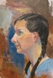 Catriona by Sarah Luton, Painting, Oil on Board