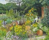 Claire's Allotment by Sarah Luton, Painting, Oil on canvas