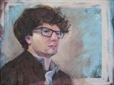 Dan by Sarah Luton, Painting, Oil on Board