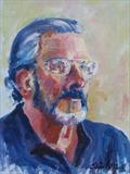 Mike by Sarah Luton, Painting, Oil on Board