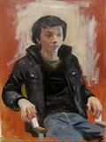 Study of Tom by Sarah Luton, Painting, Oil on canvas