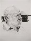 Terry by Sarah Luton, Drawing, Charcoal on Paper