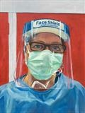 Thea, Theatre Nurse by Sarah Luton, Painting, Oil on Linen